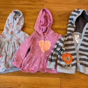 Baby Hoodie Sweater Lot (3 pieces)